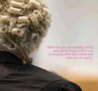 Make sure you speak loudly, slowly and clearly. Judges find it very frustrating when they cannot hear what you are saying